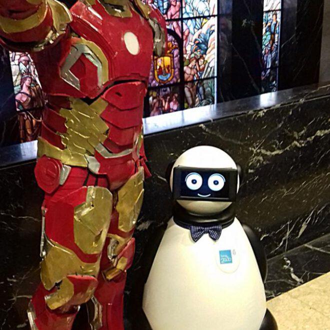 ironman y dumy robot
